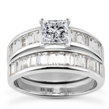 Baguette Channel Diamond Engagement Rings