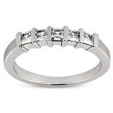 Bar Set Diamond Engagement Rings