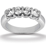 Bar Setting Diamond Engagement Rings