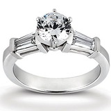 Bq Side Stones  Diamond Engagement Rings