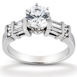 Combination Diamond Engagement Rings