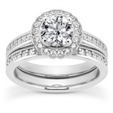 Halo Petite  Diamond Engagement Rings