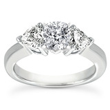 Heart Side Stones Diamond Engagement Rings