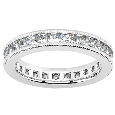 Millgrain Diamond Engagement Rings
