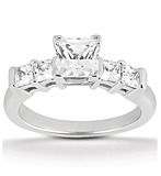 Princess Bar Diamond Engagement Rings
