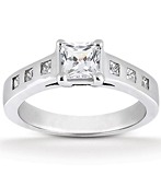 Princess Bezel Diamond Engagement Rings