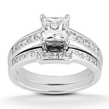 Princess Channel Diamond Engagement Rings