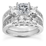Princess Prong Diamond Engagement Rings