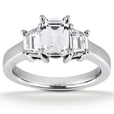 Trap. Side Stones Diamond Engagement Rings