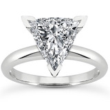 Trillion Diamond Engagement Rings
