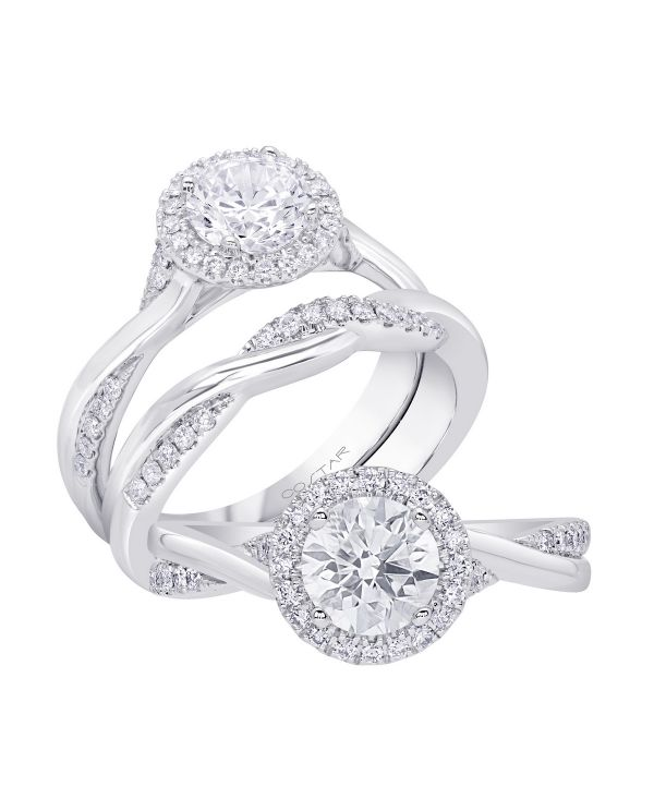 14K Infinity Cut Diamond Engagement Ring TWT  0.17  CT.  Style