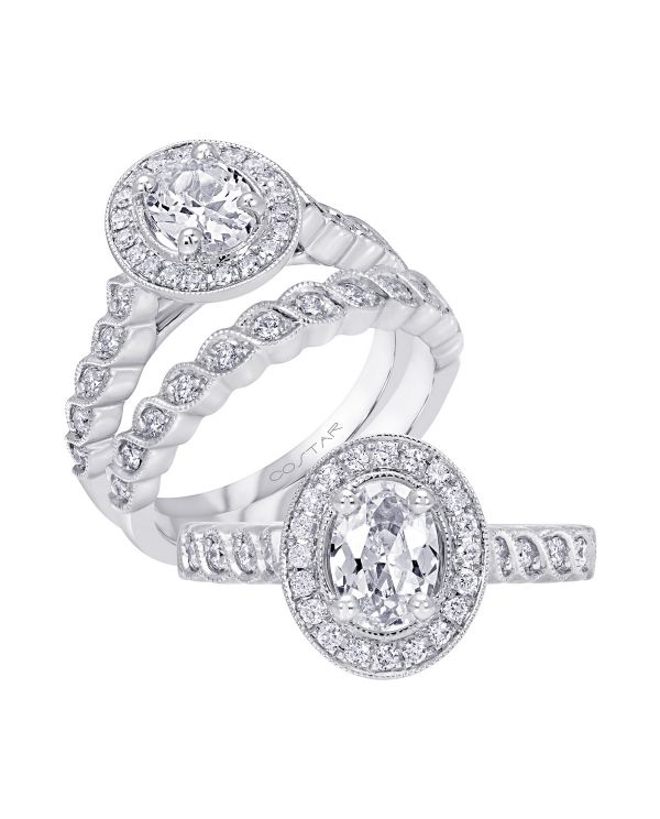 14K Infinity Cut Diamond Engagement Ring TWT  0.26  CT.  Style