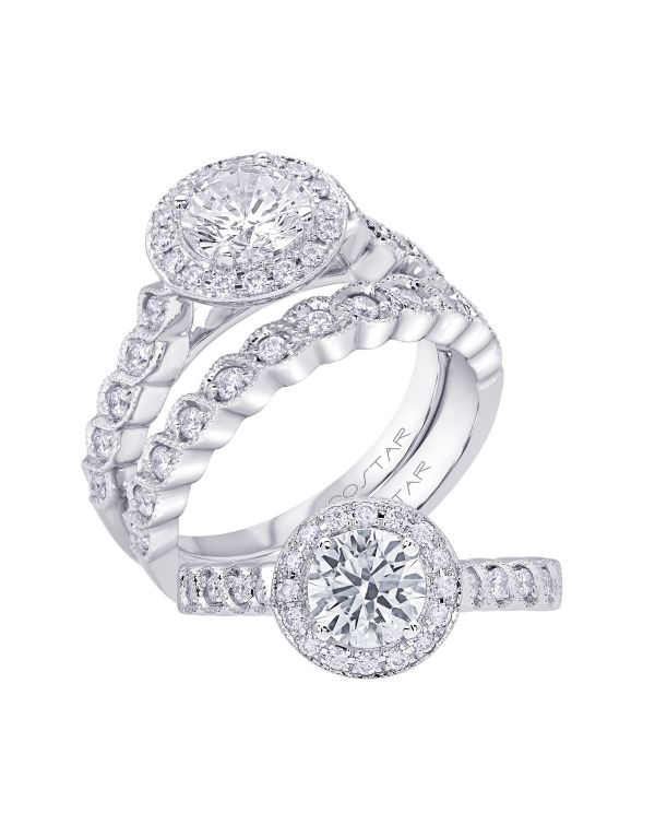 14K Infinity Cut Diamond Engagement Ring TWT  0.25  CT.  Style