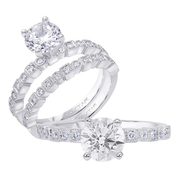 14K Stackable Cut Diamond Engagement Ring TWT  0.25  CT.  Style