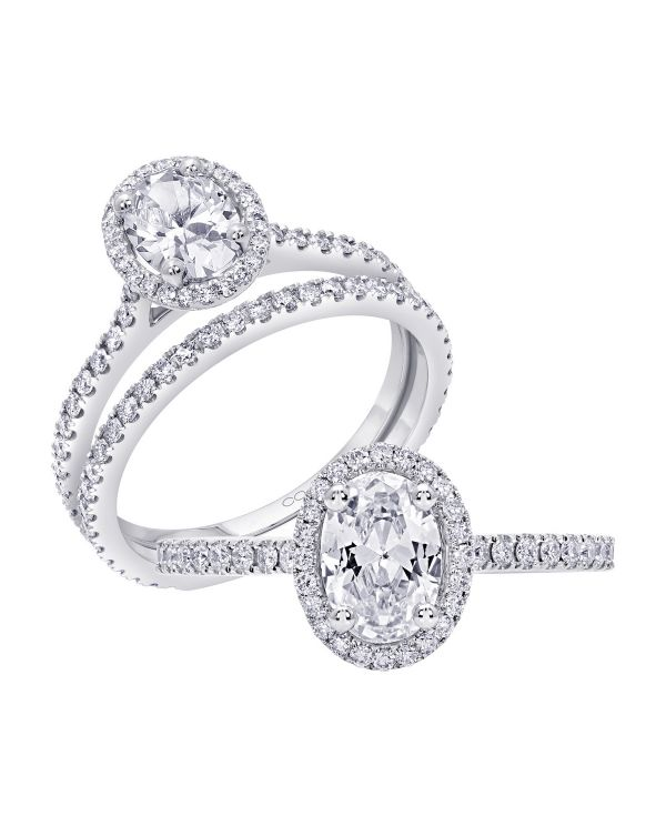14K Halo Cut Diamond Engagement Ring TWT  0.31  CT.  Style