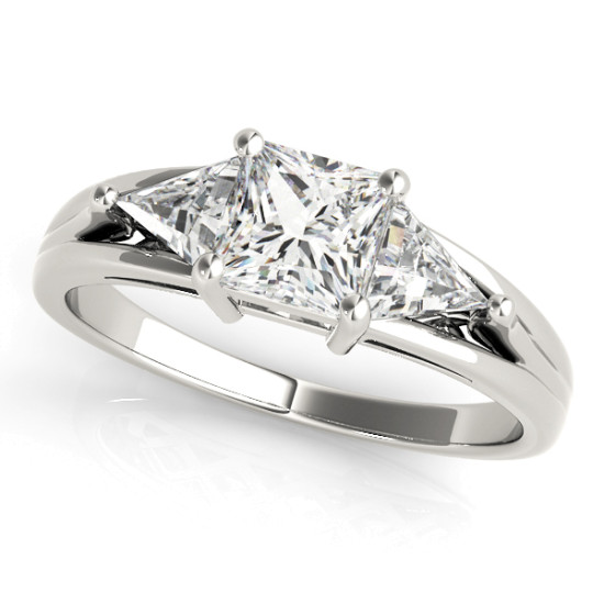 ENGAGEMENT RINGS 3 STONE PRINCESS #83770
