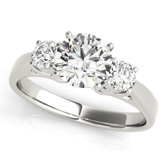 ENGAGEMENT RINGS 3 STONE ROUND #80767