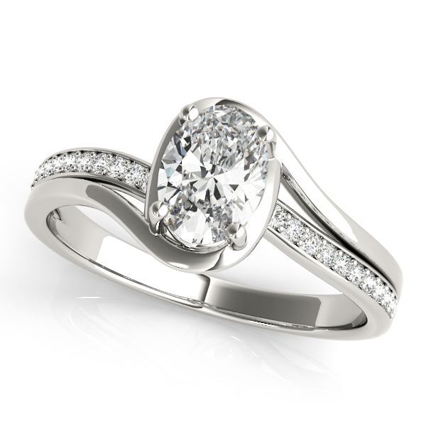 14kt Bypass Cut Diamond Engagement Ring  Null Style