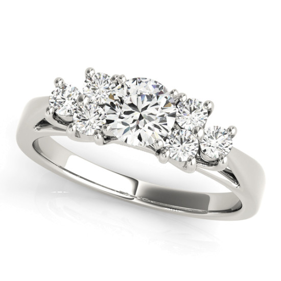 ENGAGEMENT RINGS CLUSTER SIDES #50055-E