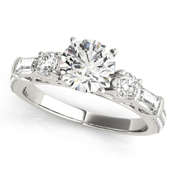 14kt Fancy Shape Cut Diamond Engagement Ring  Null Style