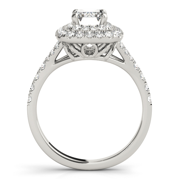 EC HALO ENGAGEMENT RING #50951-E