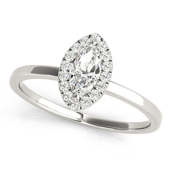 ENGAGEMENT RINGS HALO MARQUISE #50909-E
