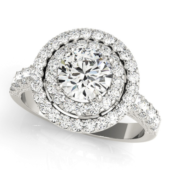 ENGAGEMENT RINGS HALO ROUND #50424-E