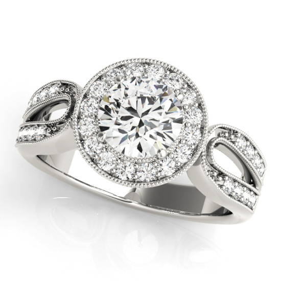 ENGAGEMENT RINGS HALO ROUND #83524