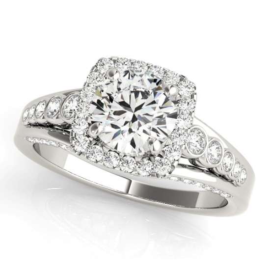 ENGAGEMENT RINGS HALO ROUND #84270