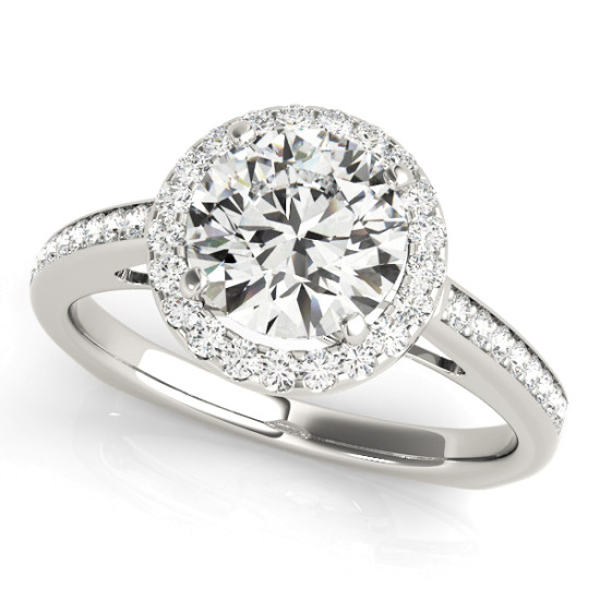 ENGAGEMENT RINGS HALO ROUND #84289