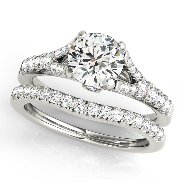 ENGAGEMENT RINGS SINGLE ROW PRONG SET #50668-E