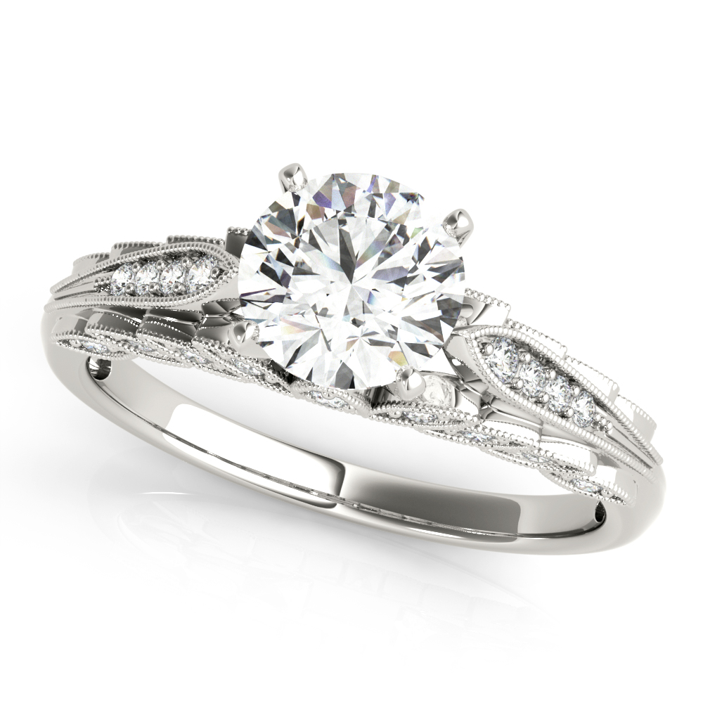 14kt Multi Row Cut Diamond Engagement Ring  Null Style