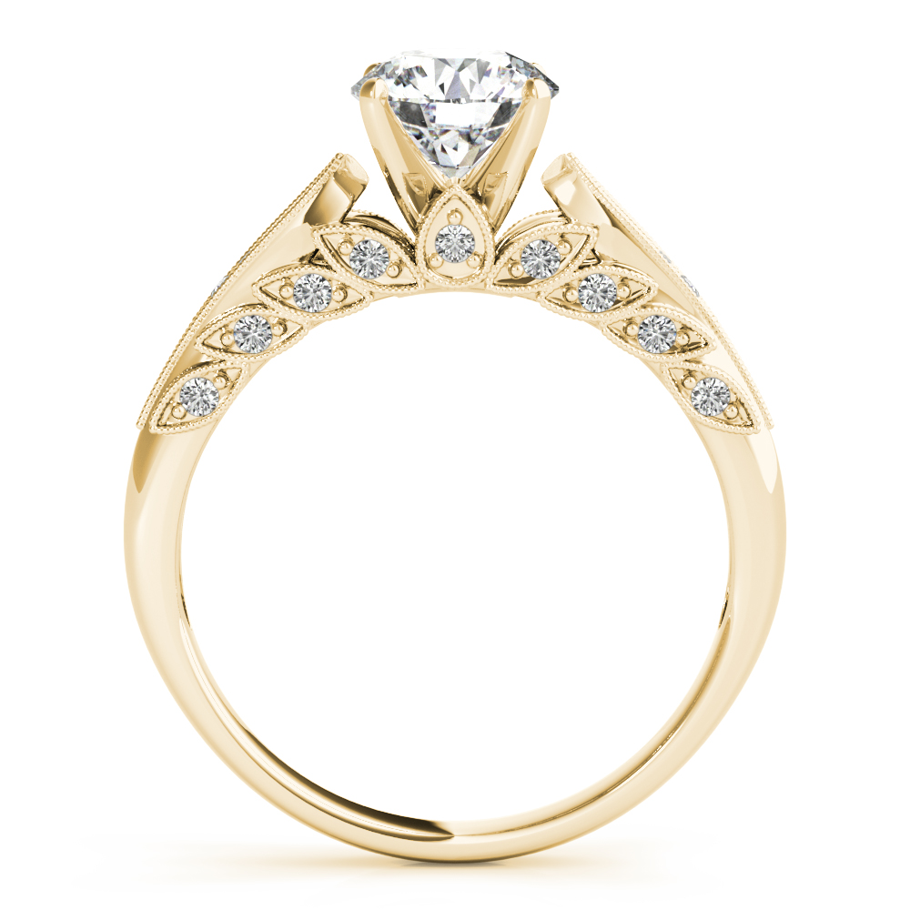 FLORAL SEMI MOUNT ENGAGEMENT RING #85146