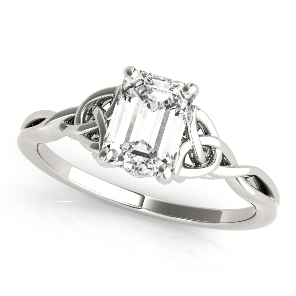 14kt New Bridal Cut Diamond Engagement Ring  Null Style
