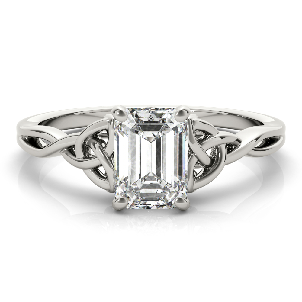 EMERALD CUT COLOR SOLITAIRE #85156