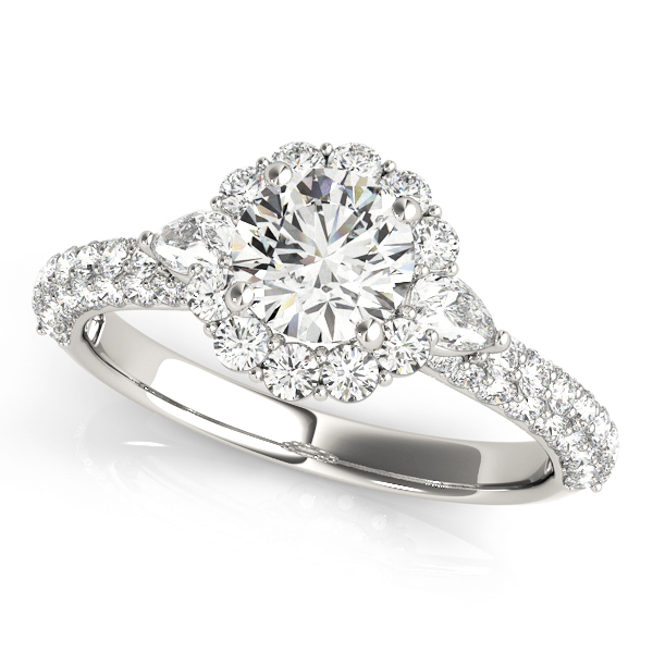 ENGAGEMENT RINGS PAVE MULT ROW #50934-E