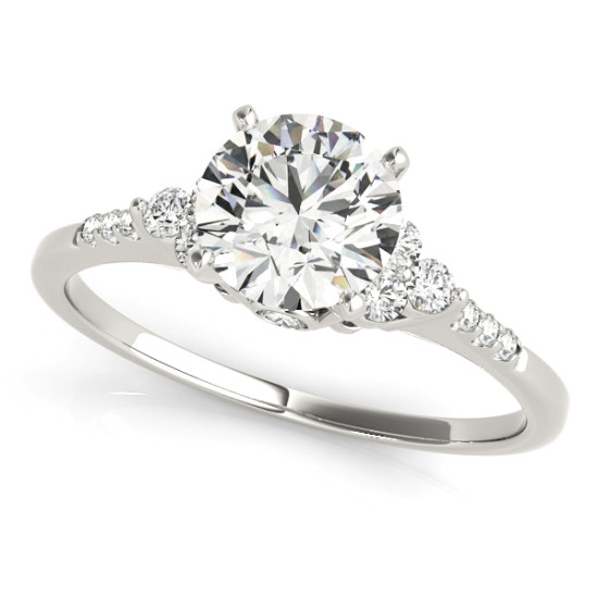 14kt Remounts Cut Diamond Engagement Ring  Null Style