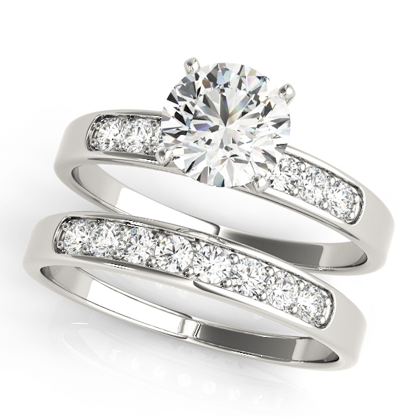 ENGAGEMENT RINGS SINGLE ROW CHANNEL SET #50076-E