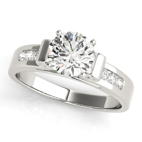 ENGAGEMENT RINGS SINGLE ROW CHANNEL SET #50257-E
