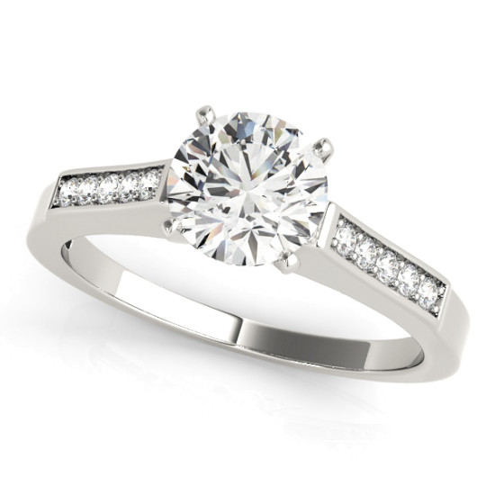 ENGAGEMENT RINGS SINGLE ROW CHANNEL SET #50270-E