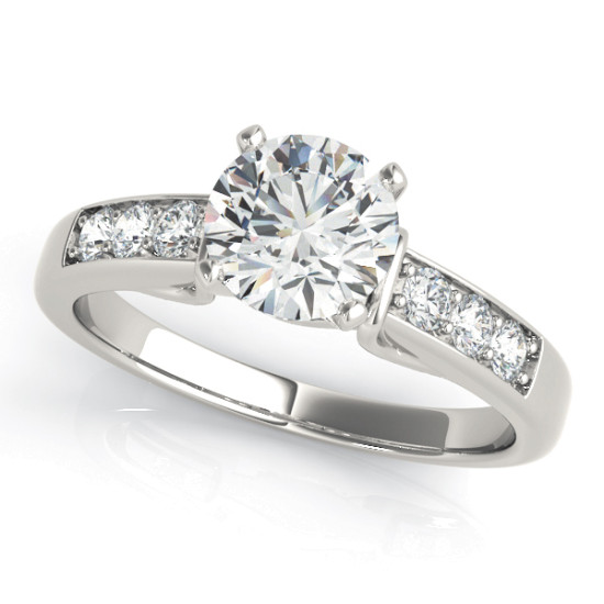 ENGAGEMENT RINGS SINGLE ROW CHANNEL SET #50397-E