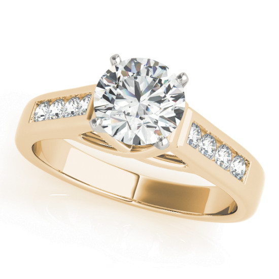 ENGAGEMENT RINGS SINGLE ROW CHANNEL SET #82869