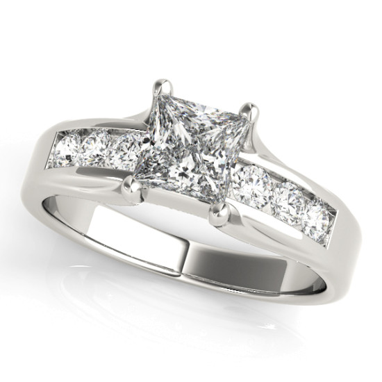 ENGAGEMENT RINGS SINGLE ROW CHANNEL SET #83199