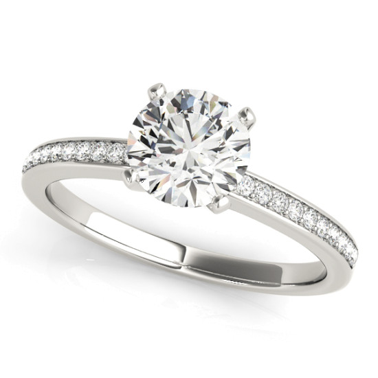 ENGAGEMENT RINGS SINGLE ROW CHANNEL SET #84323