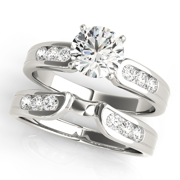 ENGAGEMENT RINGS SINGLE ROW CHANNEL SET #50002-E