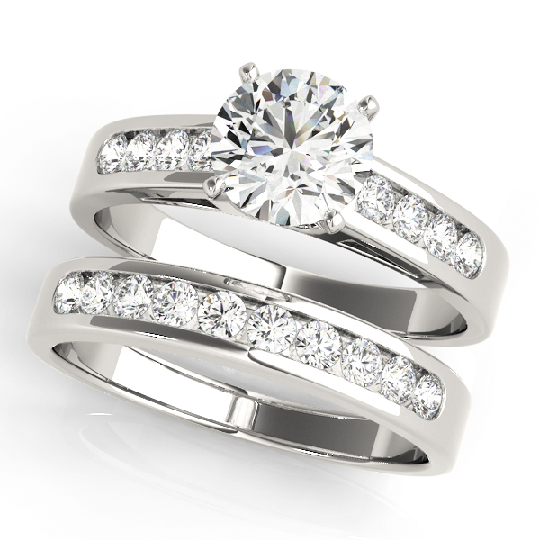 ENGAGEMENT RINGS SINGLE ROW CHANNEL SET #50005-E