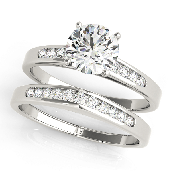 ENGAGEMENT RINGS SINGLE ROW CHANNEL SET #50026-E