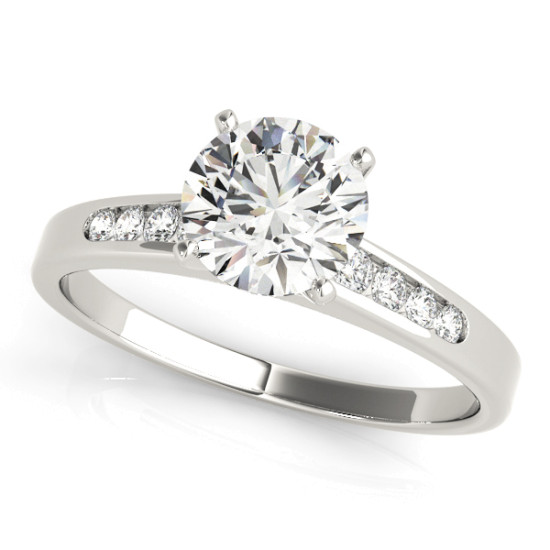 14kt Single Row Cut Diamond Engagement Ring  Null Style