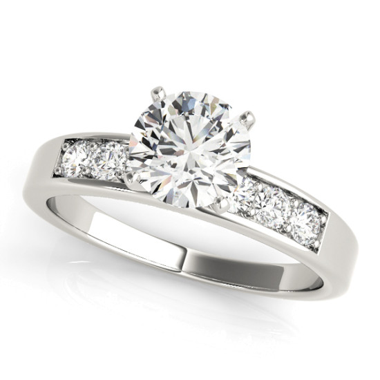 ENGAGEMENT RINGS SINGLE ROW CHANNEL SET #50077-E