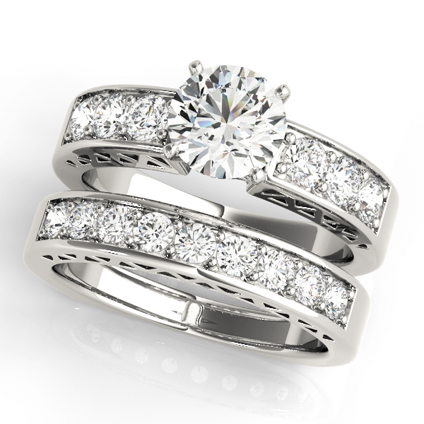 ENGAGEMENT RINGS SINGLE ROW CHANNEL SET #50278-E